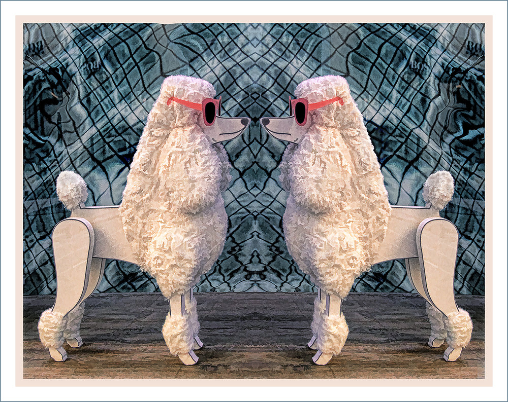 """Poodle Standoff"" by Sue Biggart"