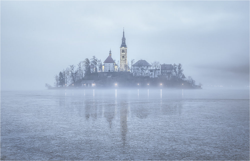 """Lake Bled Reflections"" by Robin Couchman"