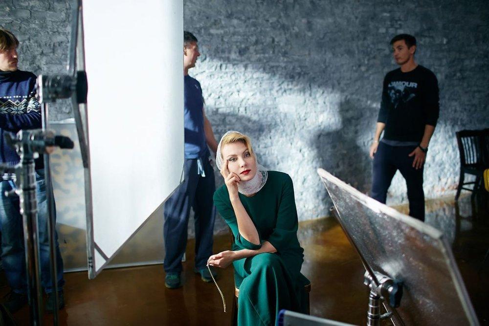 Александра Фдорова в проекте Ренаты Литвиновой для Carrera & Carrera