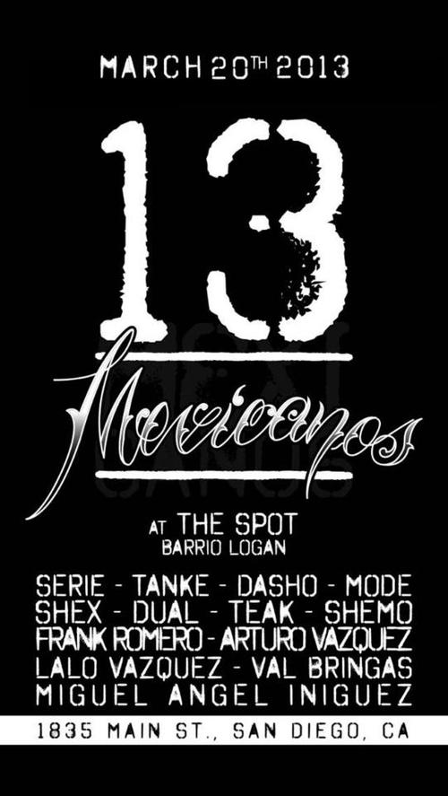 The Spot's flyer for the show
