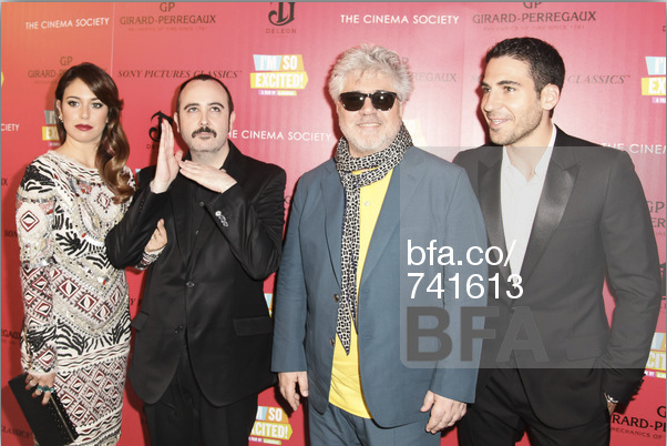 Pedro Almodovar with some of the cast of the film