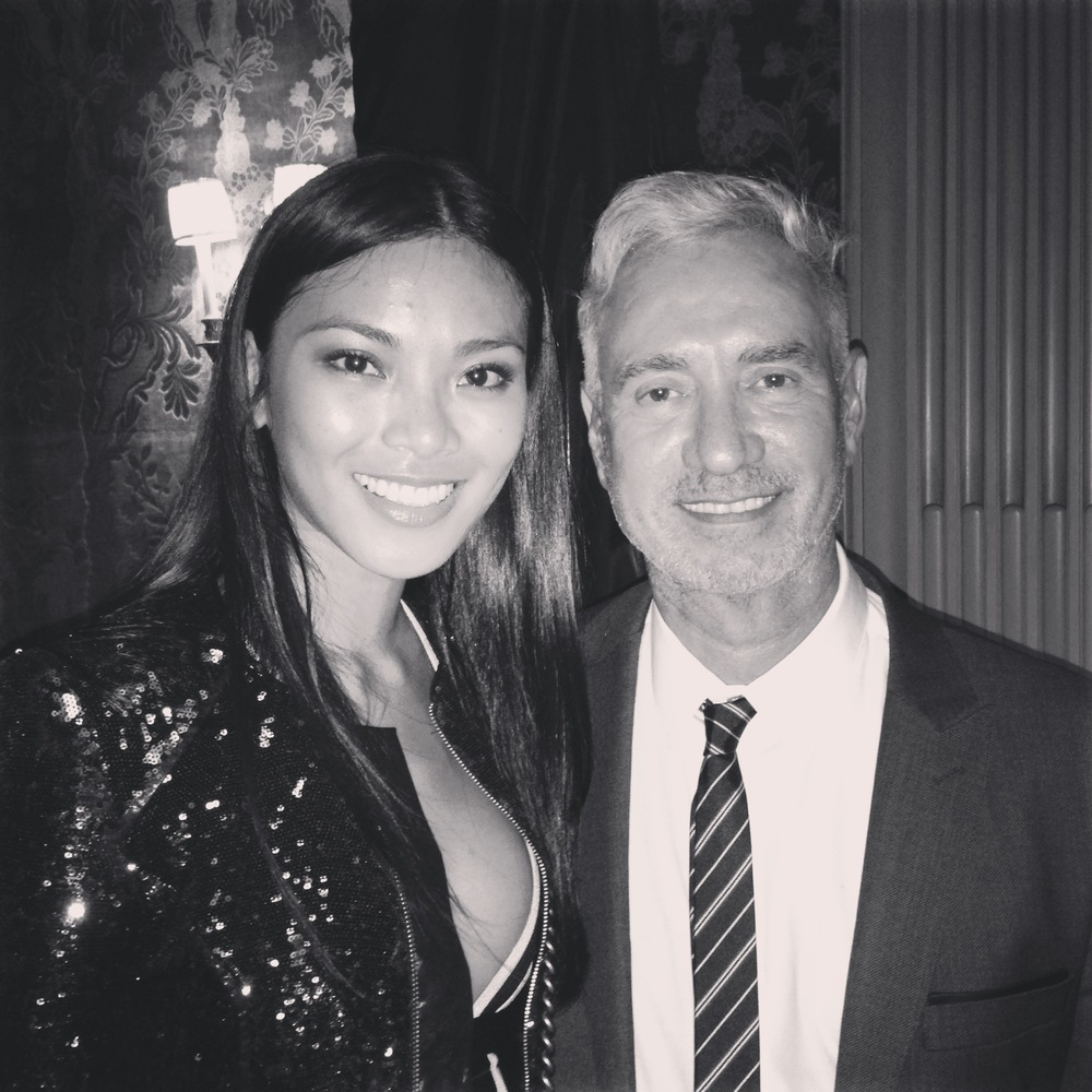 Meki Saldana with Roland Emmerich, director of Independence Day, The Day After Tomorrow and White House Down.