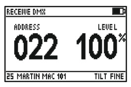 At the bottom, we see fixture number, type and channel function.