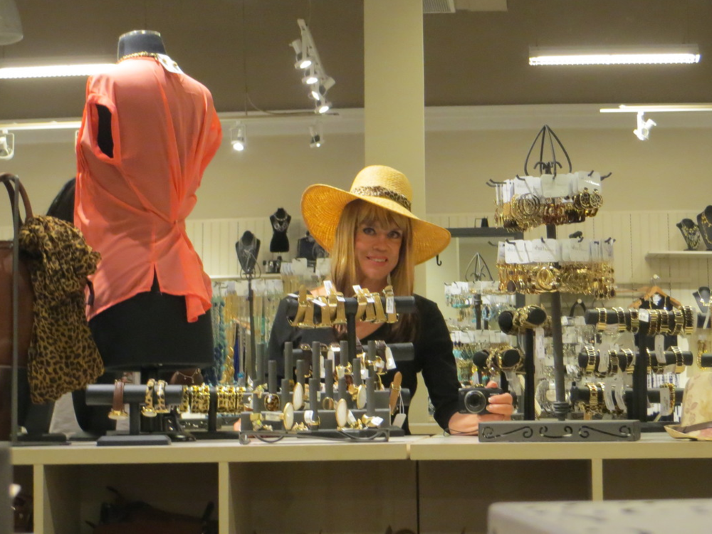 Jill became enamored with hats on this trip.
