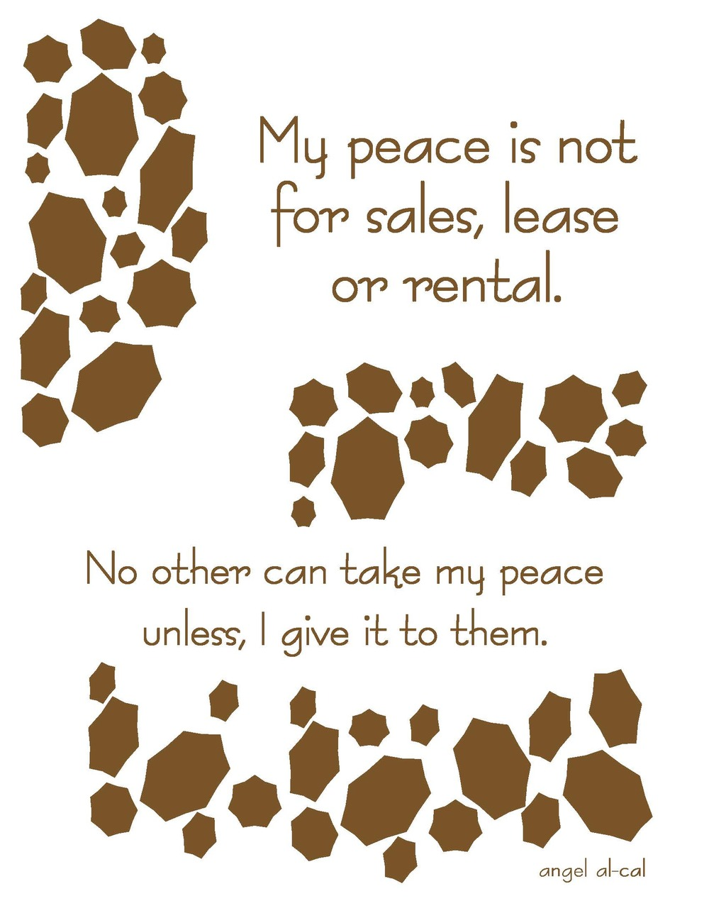 Peace Not for Sale 8x10.jpg