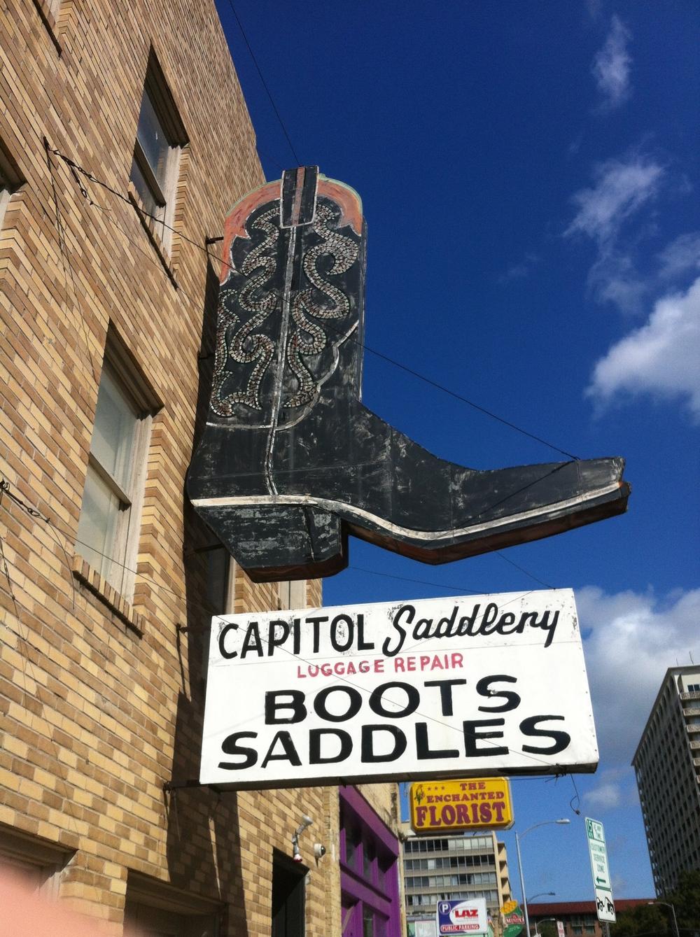Cowboy boot repair