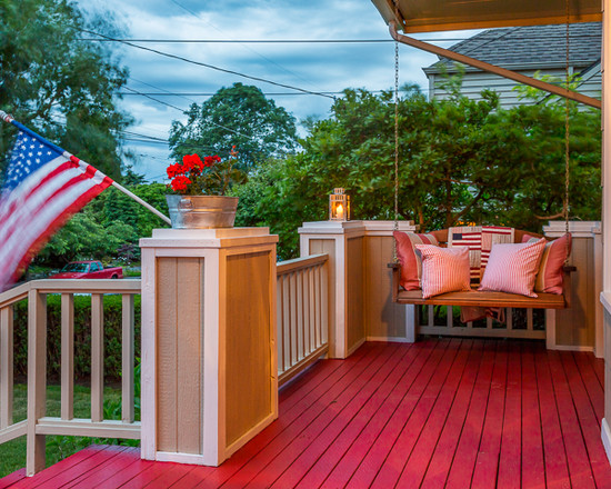 A porch swing and a warm breeze make for a perfect summer night.