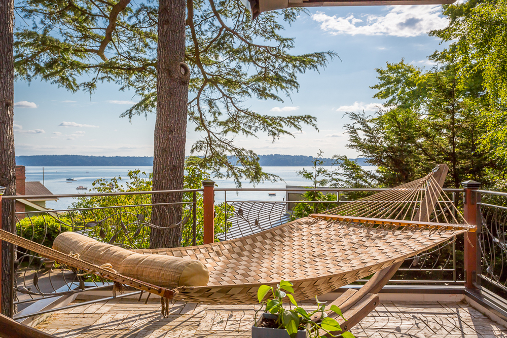 Relax with a book, a glass of wine, or take a nap. Orcas and sailboats will keep you company.