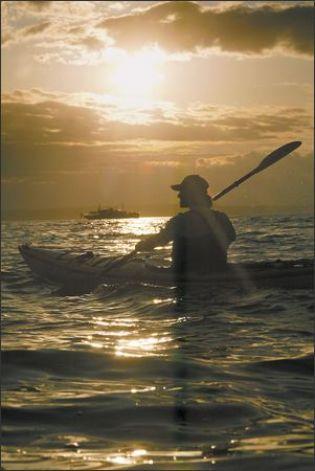 Sunset kayaking.