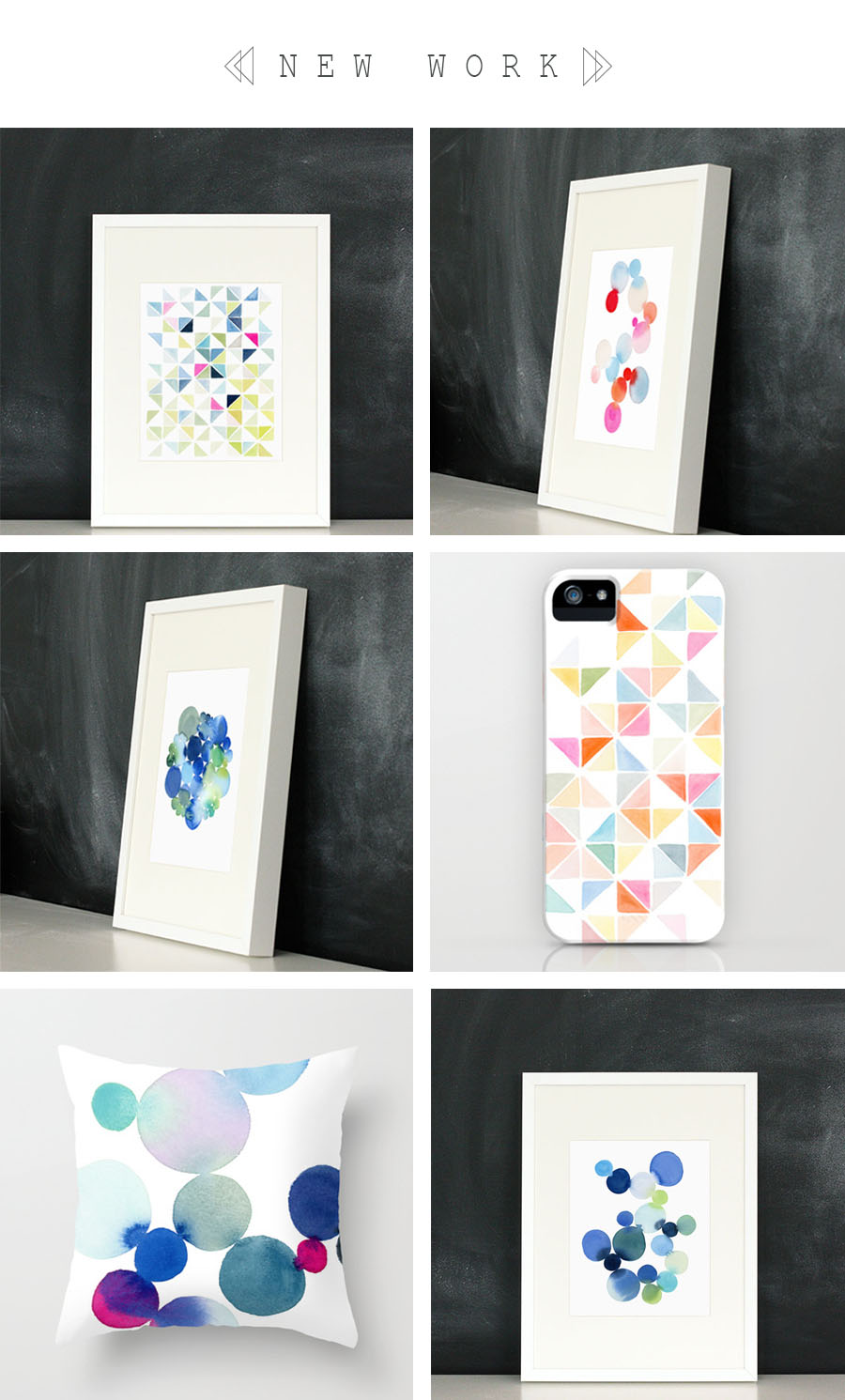 Sources// Multi Triangles in Blue and Pink // Dot Cluster in Red and Blue // Compact Cluster of Dots // Multi Triangles Iphone // Dot Cluster Pillow Case // Dot Cluster in Blue