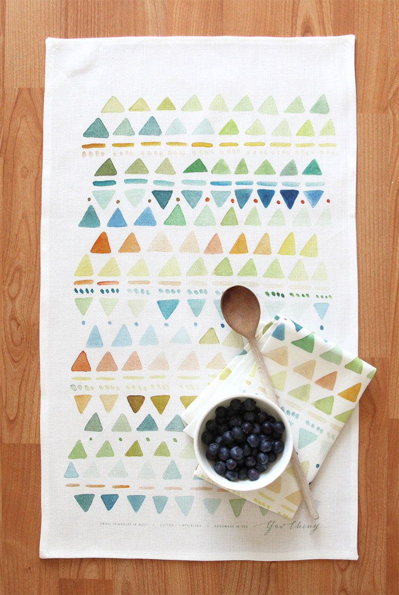 new printed tea towels yao cheng design