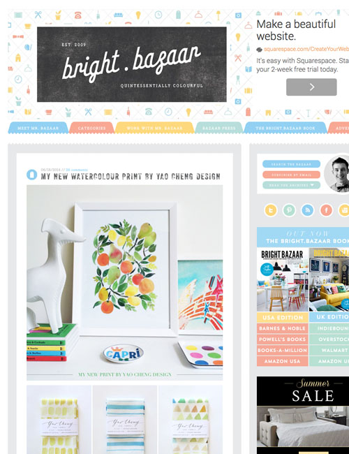 Bright Bazaar  blog feature