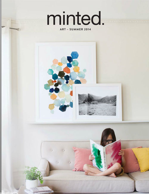 Minted art catalog feature on cover and national campaign in Domino, Martha Stewart among other magazines.