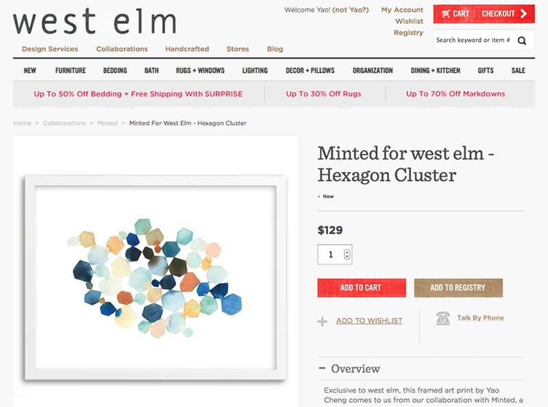 Hexagon Cluster  for West Elm