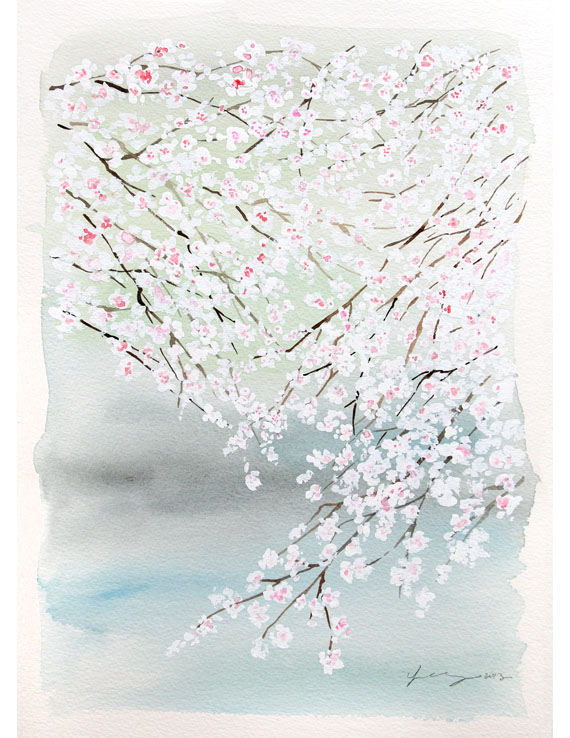 Cherry Blossom on a Lake  / Yao Cheng