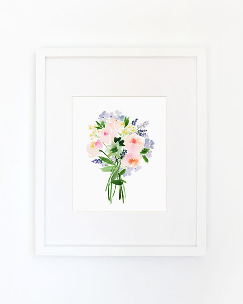 (Caroline Rose Bouquet) Art Print // ©2016 Yao Cheng Design, all rights reserved