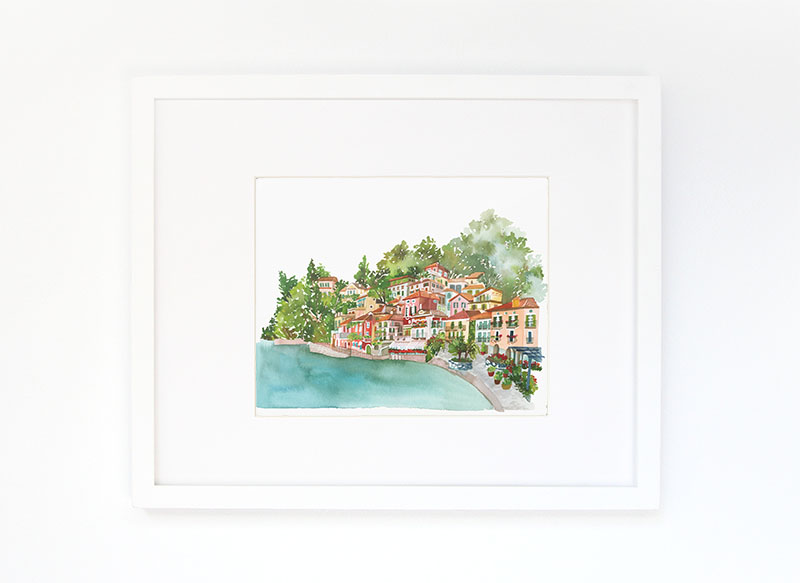Lake Como Art Print // ©2016 Yao Cheng Design, all rights reserved