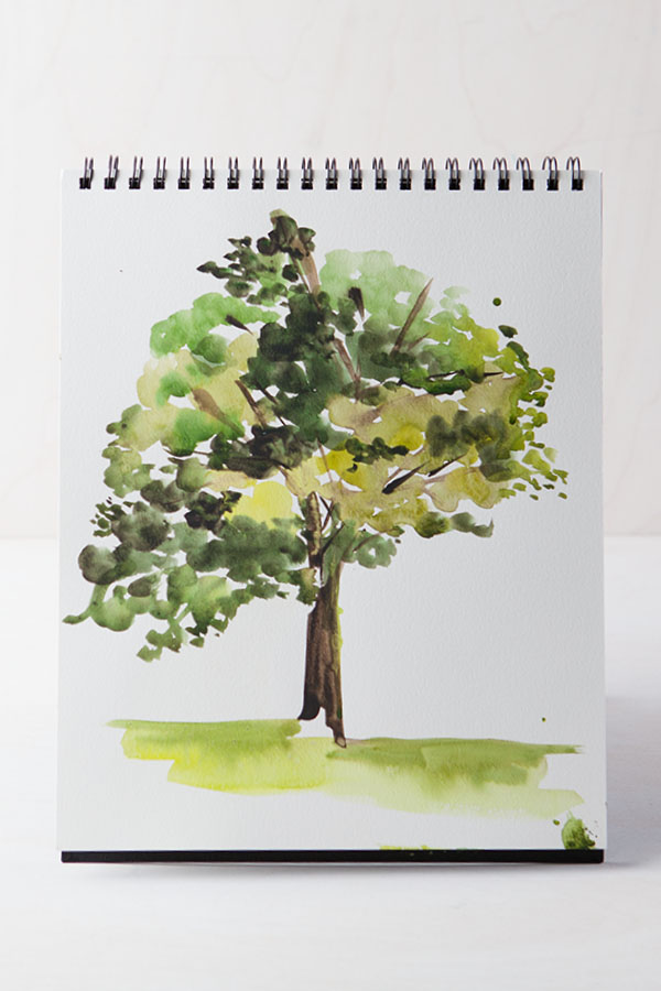 Yao Cheng Design- Painting in the Garden- tree, Creativebug