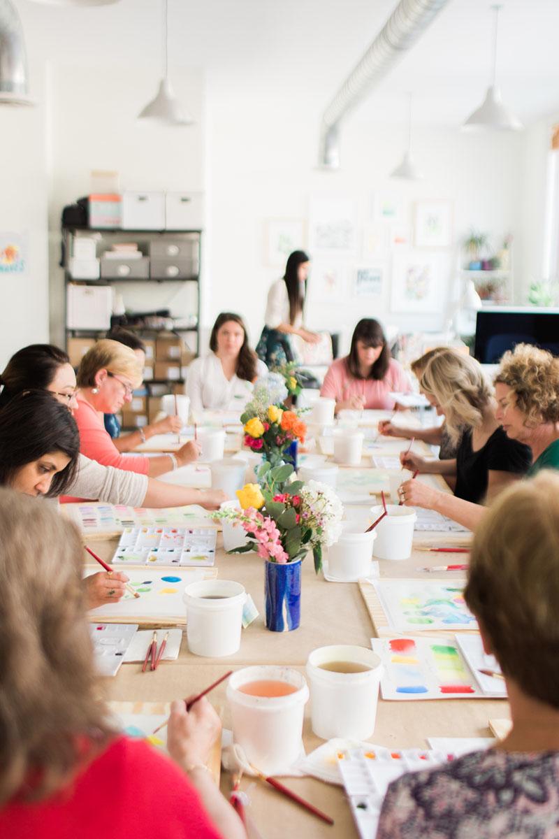 Yao Cheng Design- Beginner's Workshop2- Watercolor Workshop Columbus Ohio