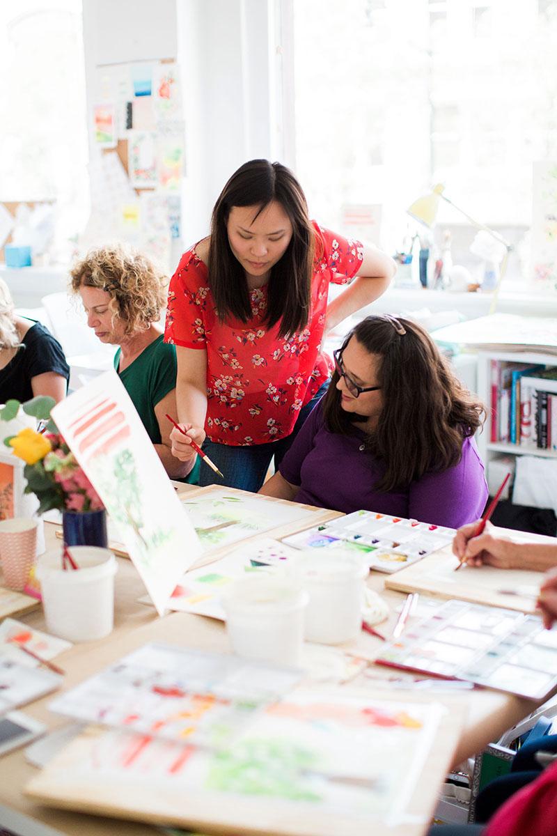 Yao Cheng Design- Beginner's Workshop5- Watercolor Workshop Columbus Ohio