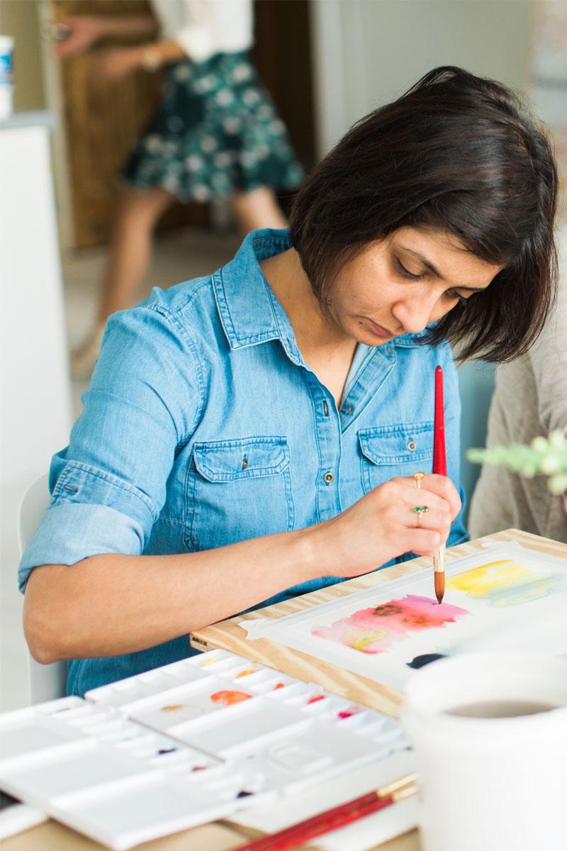 Yao Cheng Design- Beginner's Workshop4- Watercolor Workshop Columbus Ohio