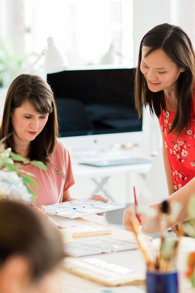 Yao Cheng Design- Beginner's Workshop6- Watercolor Workshop Columbus Ohio