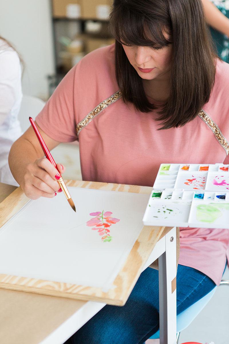 Yao Cheng Design- Beginner's Workshop8- Watercolor Workshop Columbus Ohio