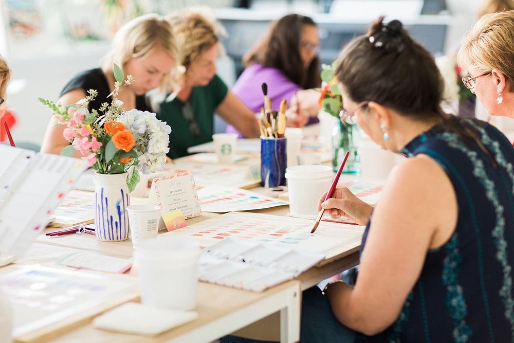 Yao Cheng Design- Beginner's Workshop3- Watercolor Workshop Columbus Ohio