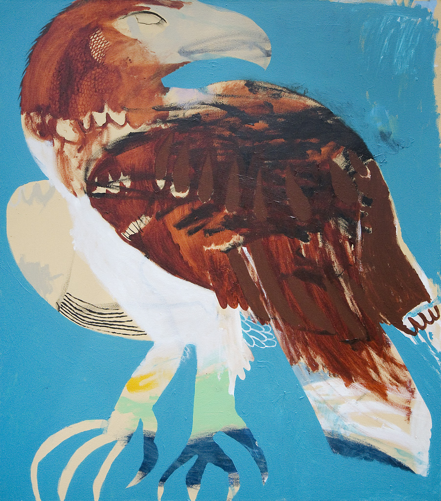 King Of All Birds Wedgetail  2016 Acrylic and charcoal on cotton canvas 137 x 121cm