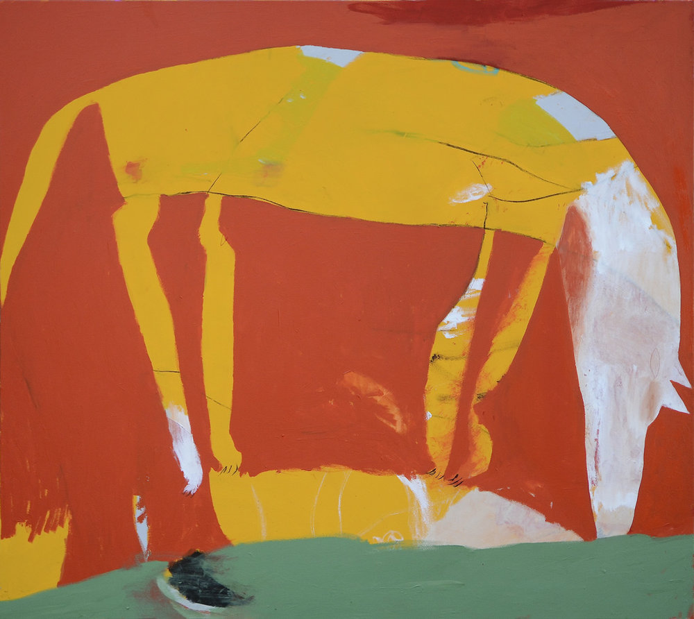 Dingo Drink  2015 Acrylic and charcoal on cotton canvas 137 x 152cm
