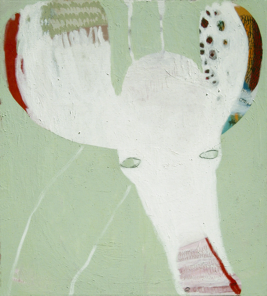 Janis  2009 Acrylic and charcoal on cotton canvas 152 x 137cm