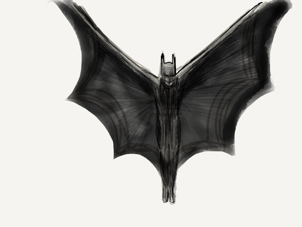On a Dark Knight: Sketching ideas using Paper by @FiftyThree
