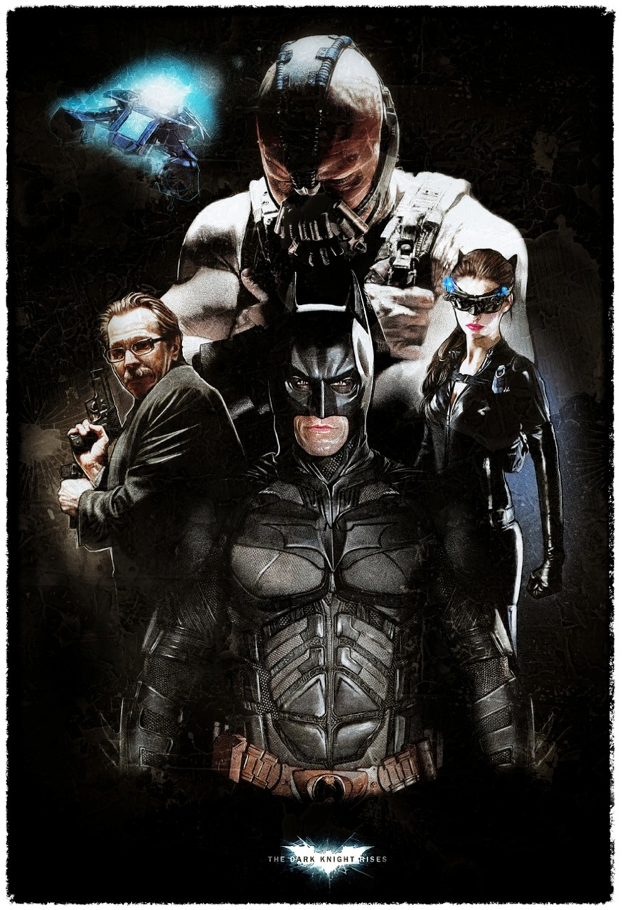 Dark Knight Rises Poster Artwork - 2 different styles