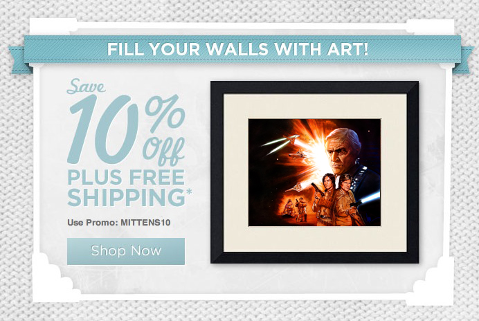 10% OFF Plus Free Shipping* until January 8th! Use Promo Code: MITTENS10 HEAD TO THE GALLERY STORE NOW TO PLACE YOUR ORDER! *Free Ground Shipping to US residents only. 10% off plus free shipping sale is valid until 01/08/11 at 11:59 PM EST. Cannot be combined with other offers. Sale offer is applied to total order before shipping and taxes. Standard shipping rates apply. Excludes the purchase of gift cards.