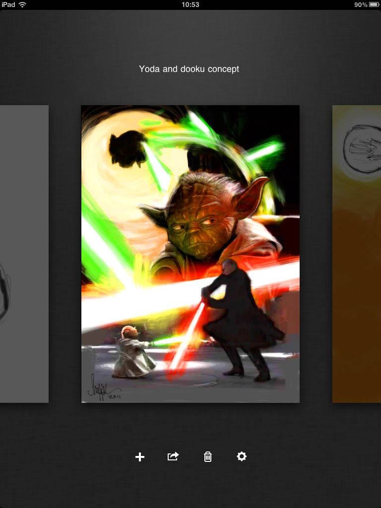 Illustrating Yoda for Star Wars Galaxy