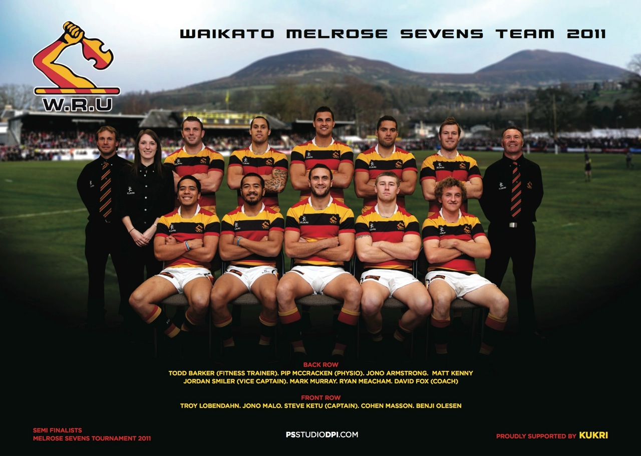 The WRU Waikato Sevens Team got in touch to have their team photo taken after their much anticipated prestigious overseas tournament at Melrose, Scotland. The boys did well making it to the Semi Finals.