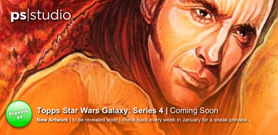 There is another sneak preview of my new artwork for Topps Star Wars Galaxy 4 on my main page over at  www.paulshipper.com  head on over for a closer look. This might be the last clue you will need to enter the competition to win a special prize, so see if you can work out who the other Star Wars character is. If you can name both characters email me at  galaxycompetition@paulshipper.com  and you could be in to win!