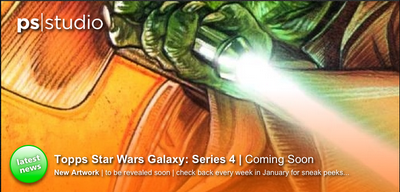 Check back every weekend in January for another close crop of the new artwork for Topps Star Wars Galaxy Series 4...  www.paulshipper.com