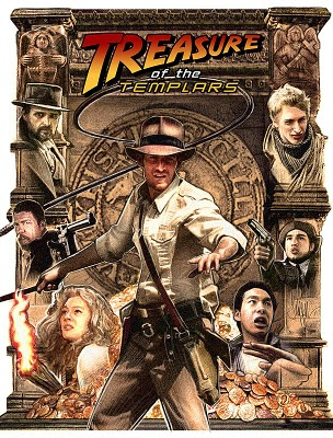 Hot off the press! Well you've seen Indiana Jones 4 now and want some more Indiana Jones to get your teeth into? Then you have reached the right place. The opening act of Treasure of The Templars is now available to view online! www.treasureofthetemplars.com I created a poster for the upcoming release of the film - click the poster above for a slightly larger version. The film makers have spent so much time and energy on this film over the last few years. It has been a long haul. I was approached and we started developing poster ideas over 12 months ago and now the time has come coinciding with the release of the Kingdom of the Crystal Skull. Be sure to check out the new clip and feel free to comment on the poster and the clip here or on the Templars Forum.