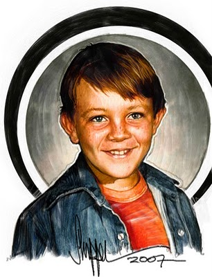 Over on SFG! you will find the latest Challenge... to draw Jeff (the creator of SFG!)...here he is as a young lad... have a look at all the submissions from some of the best illustrators around go to:  SFG: Draw ME