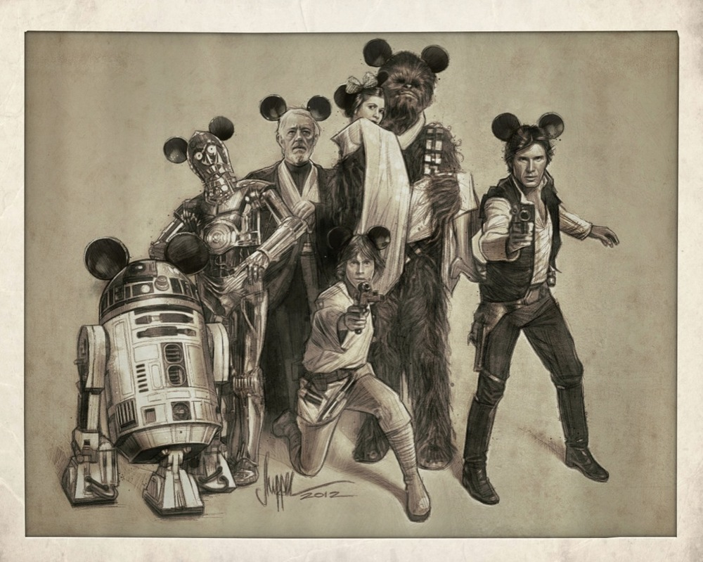 Star Wars: the Gang's All Here - Disney Variant SOLD OUT at the show - 7 Dec 2012 - AP's now available at the SHIP SHOP