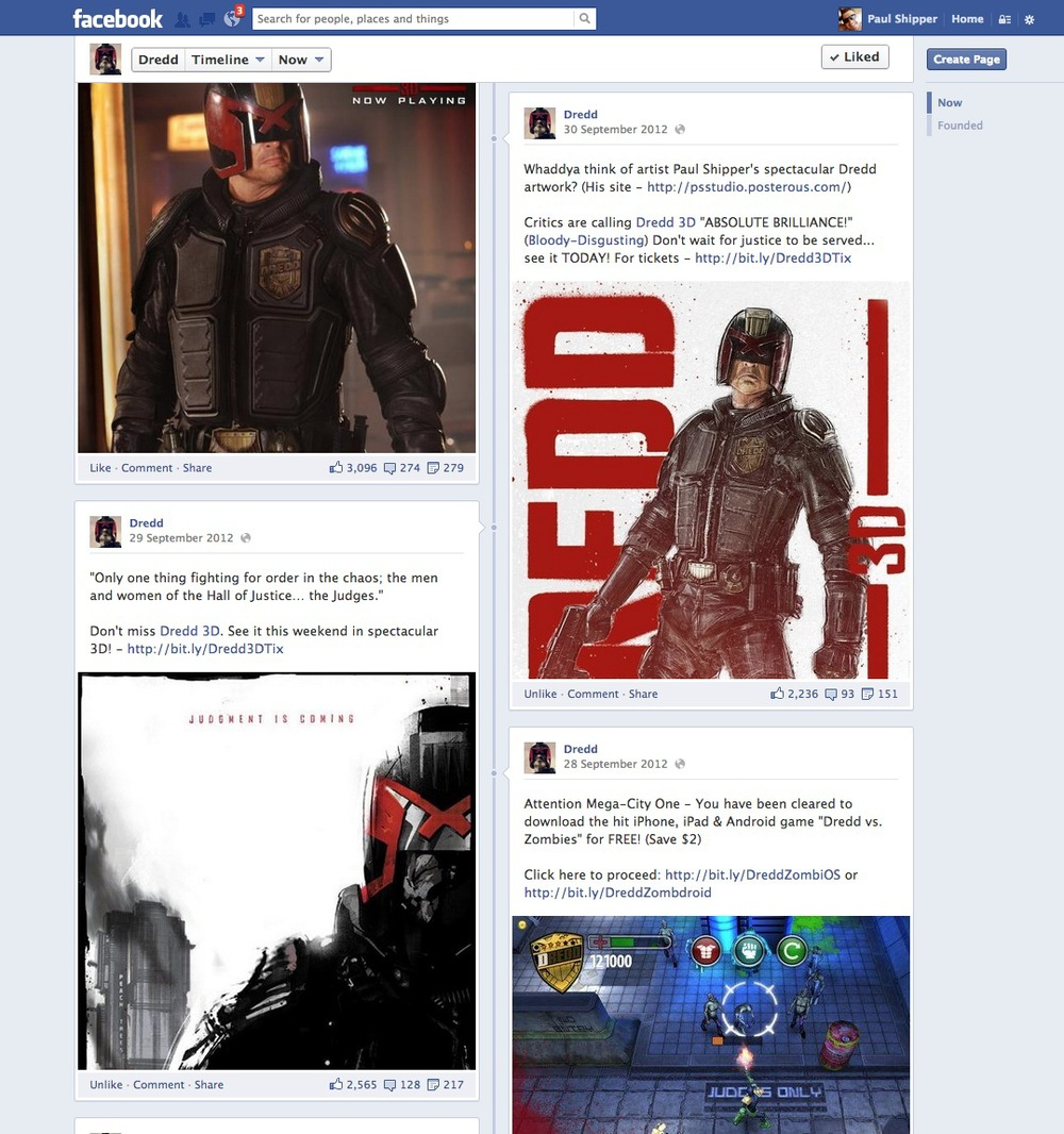 Official DREDD Facebook Page