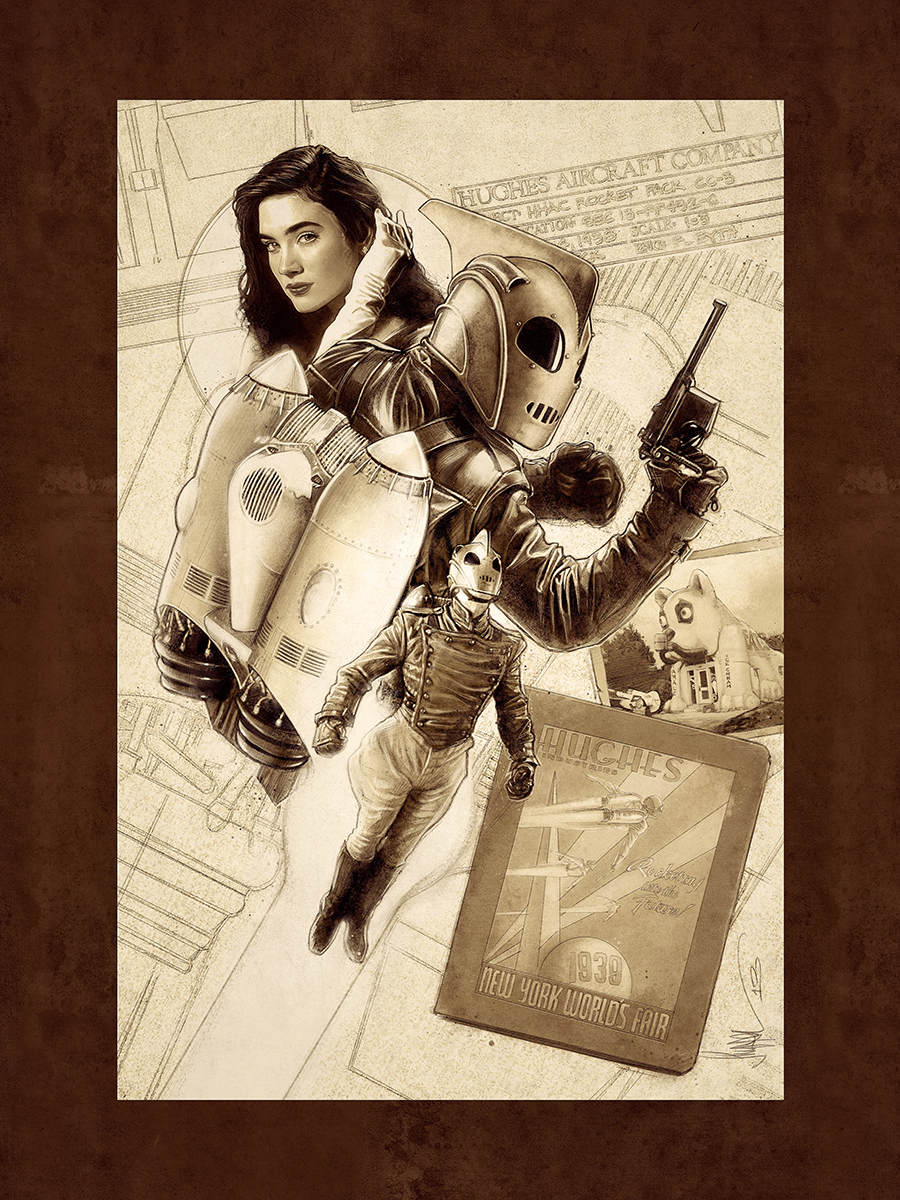 "The Rocketeer - Righteous Rides - 18x24"" Limited Edition of 100 Fine Art Giclée Print - $50 Available Now!"