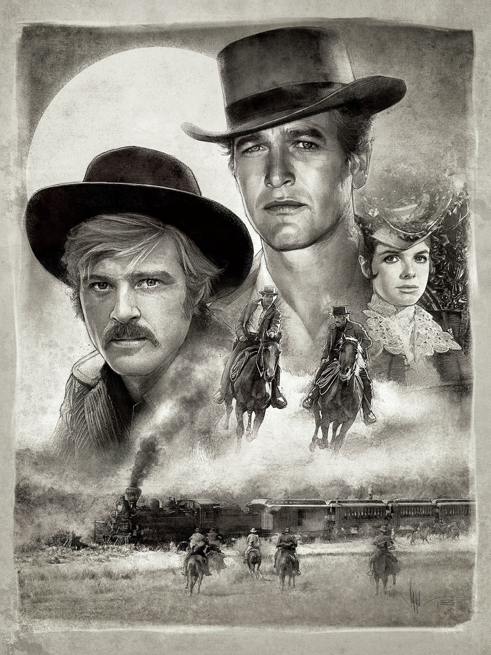 "Butch and Sundance - 18 x 24"" Giclée - Bottleneck Gallery, NYC"