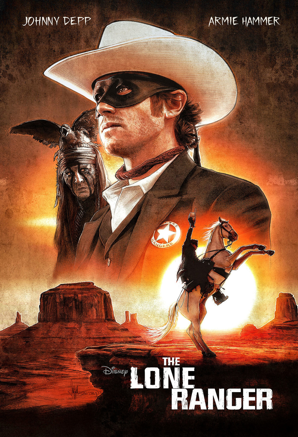 Lone Ranger - Illustrated One Sheet Design