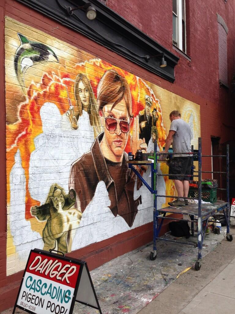 Being Painted in Brooklyn, NYC