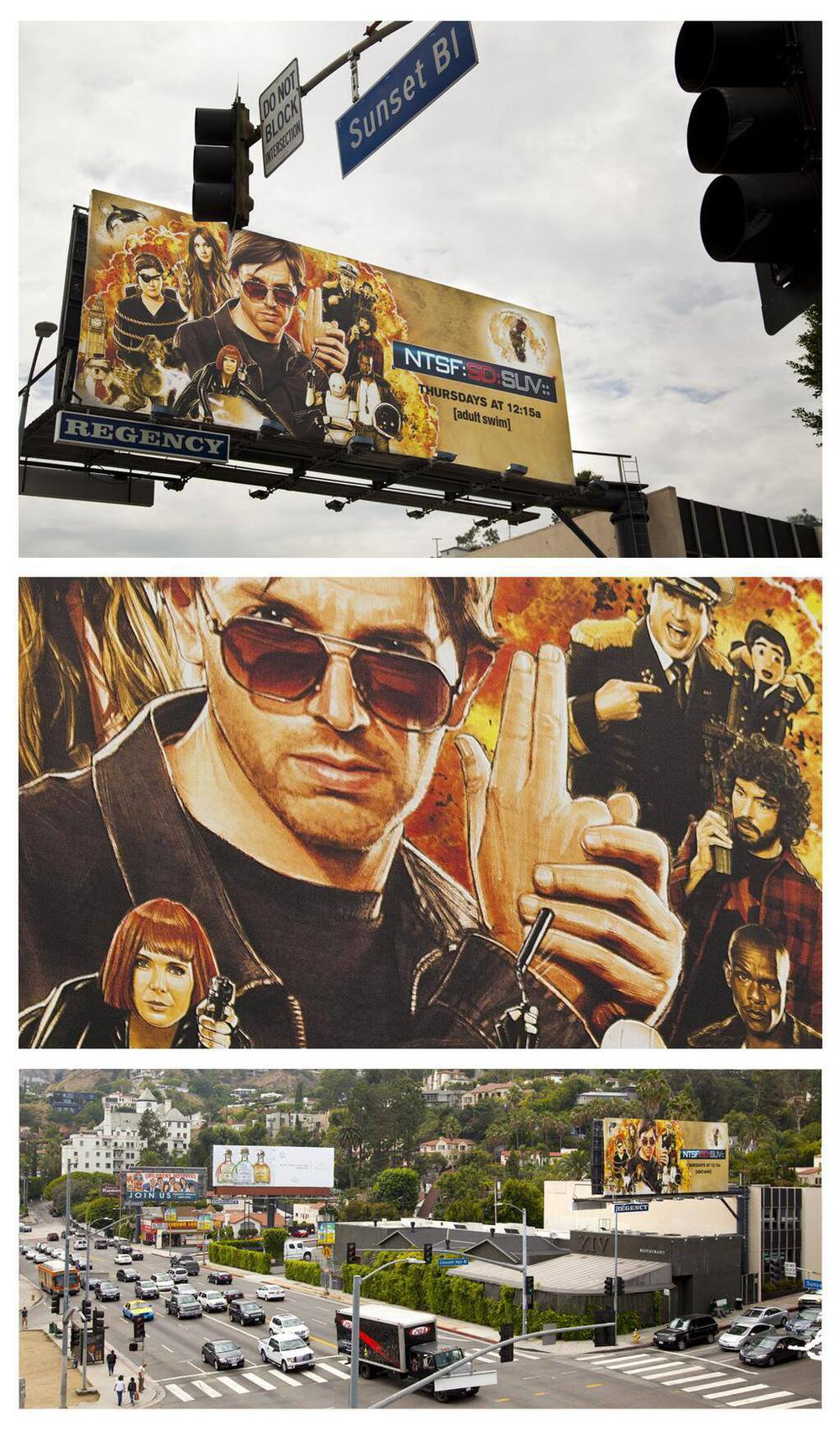 On Sunset Blvd, Los Angeles.