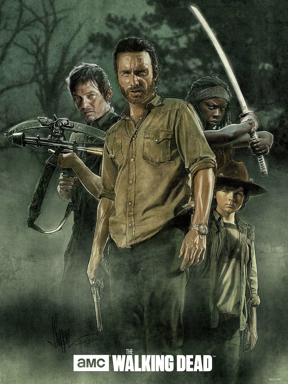 Official AMC The Walking Dead Limited Edition Print Now Available (click to buy)