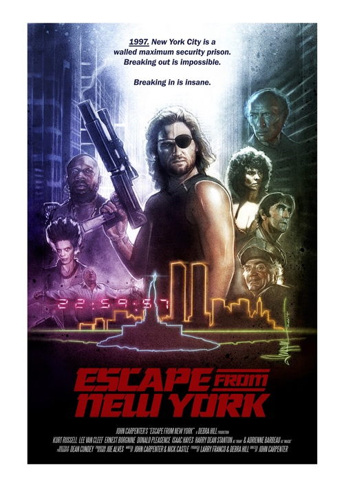 Escape From New York Poster.Escape From New York Paul Shipper Studio