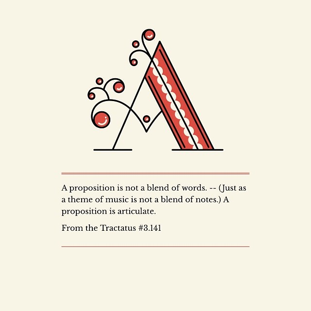 A proposition is articulate. Tractatus 3.141 #wittgenstein #propostions - (made with @hellonotegraphy) #notegraphy